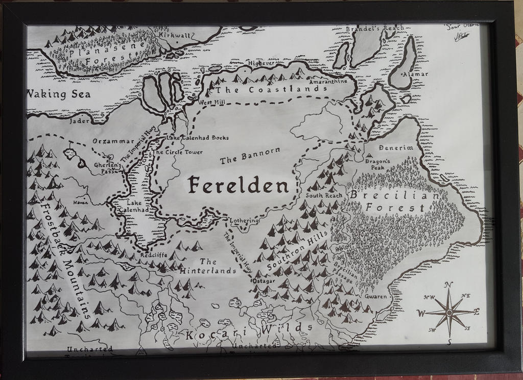Ferelden map (Dragon Age Origins) by Imrael56 on DeviantArt on