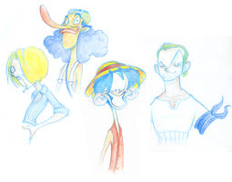 One Piece studies by borogove13