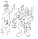 Scarecrow and Steam Woodsman
