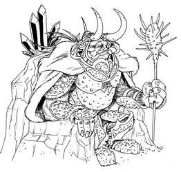 Ludo the Mountain King by borogove13