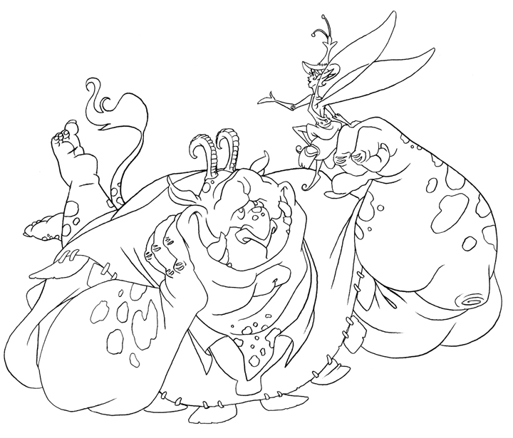 Frozen Coloring Pages Trolls : Coloring page troll and fairy by borogove on deviantart