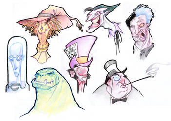 Rogues Gallery ::part 1?:: by borogove13