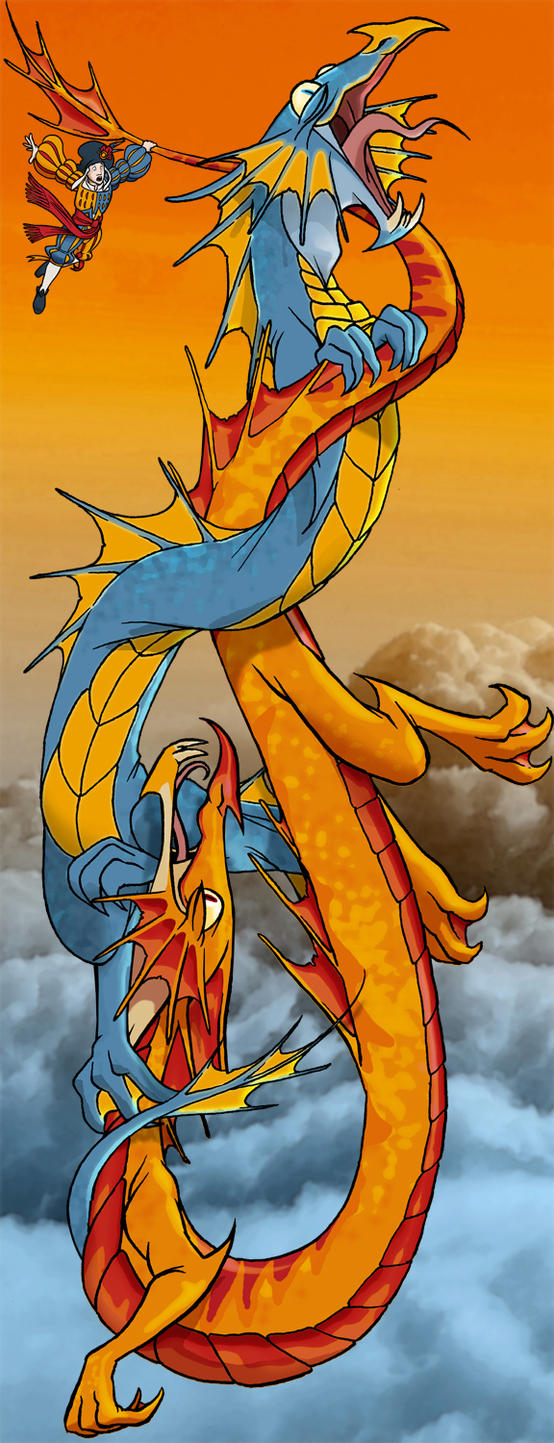 Dragons Intertwined by borogove13