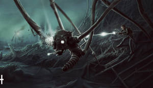 Human-machine war on Ziffu 6 by dante-cg