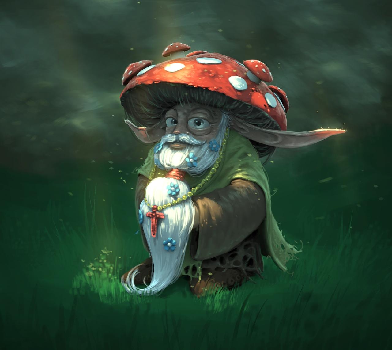 THE MUSHROOM MAN by dante-cg