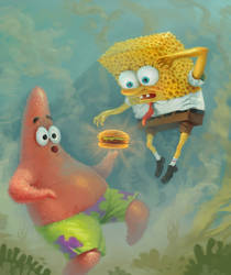 SPONGEBOB AND PATRICK by dante-cg
