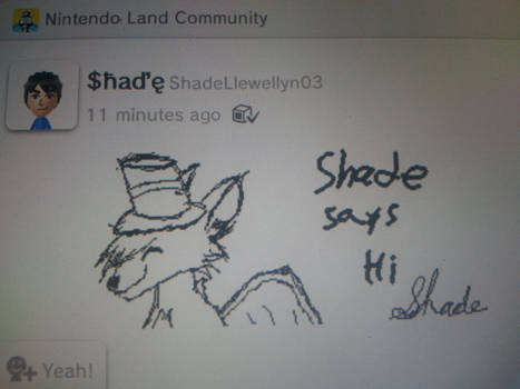 Shade drawing game pad tablet of Wii U