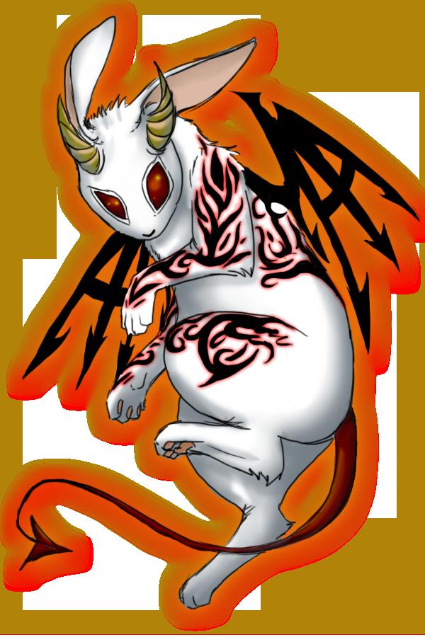 evil cartoon bunny - 600×900