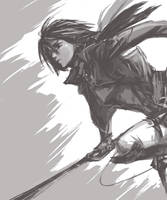 Mikasa Ackerman by BunnyKick