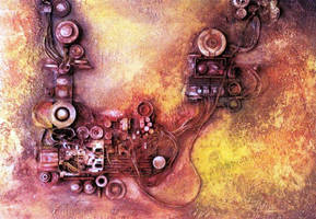 Abstract 7 Gear of components by Gilberto-Mattos