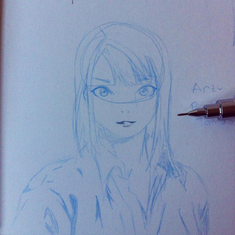 Anzu sketch by elfooscuro