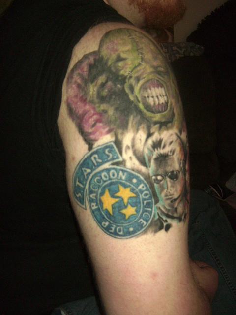 Resident evil sleeve back by monoxidechild86 on deviantart for Tattoo shops in wichita ks