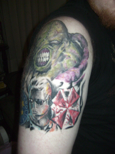 Resident evil sleeve front by monoxidechild86 on deviantart for Tattoo shops in wichita ks