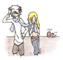 Fylin and Aoi plus Savas XD by Kerii-chan