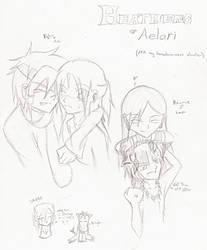 Heathens of Aelari doodles by Kerii-chan