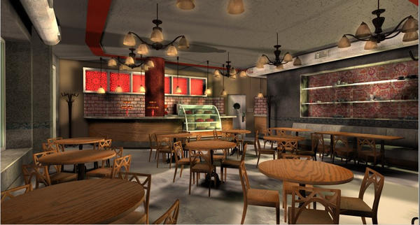 Cafe interior design by bbrns on deviantart for Interior cafe designs