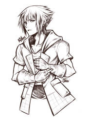 Kingdom Hearts 3 - Riku BW