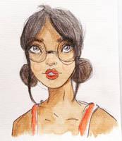 Glasses Girl by christelleriou