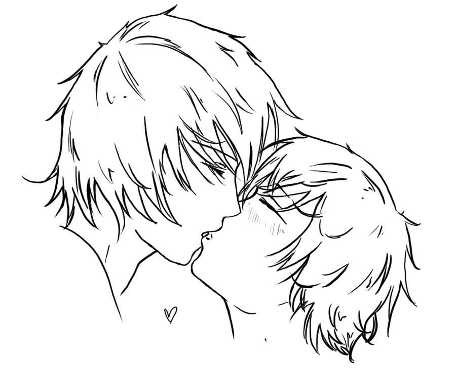 Line Drawing Kiss : Kiss lines by tnienjaa on deviantart