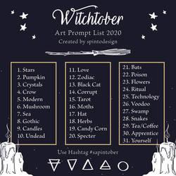 Witchtober 2020 Prompt