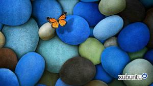 Xubuntu blue rock