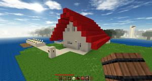 House boat of lake