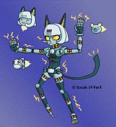 Robo Fortune Pixel Art