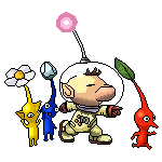 Olimar and Pikmin Pixel-over by Sugimori