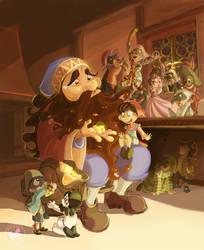 Pinocchio at Mangiafuoco's