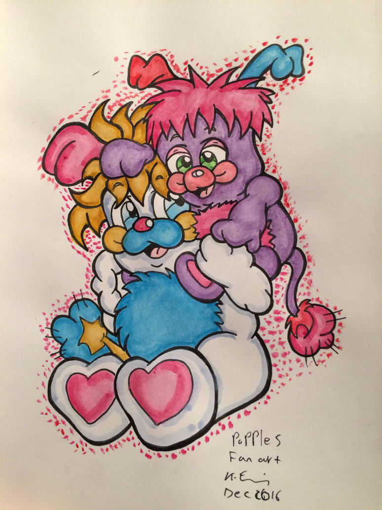 Popples fan art by skullpunk666girl