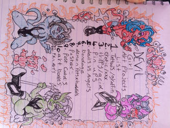 Devil girls art project doodle  by skullpunk666girl