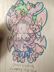 Caught by the Pervy tentacle monster by skullpunk666girl