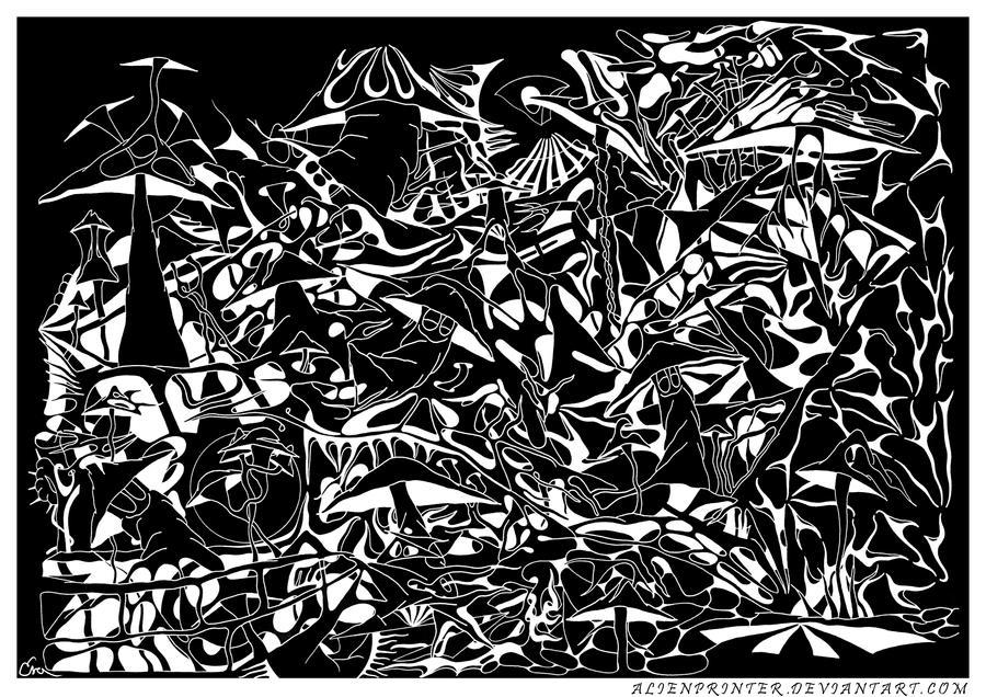 -Mushrooms-2001-black- by AlienPrinter