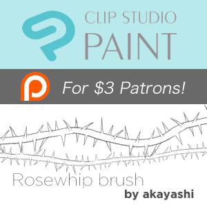 Clip Studio Paint Brush - Rose whip by akayashi