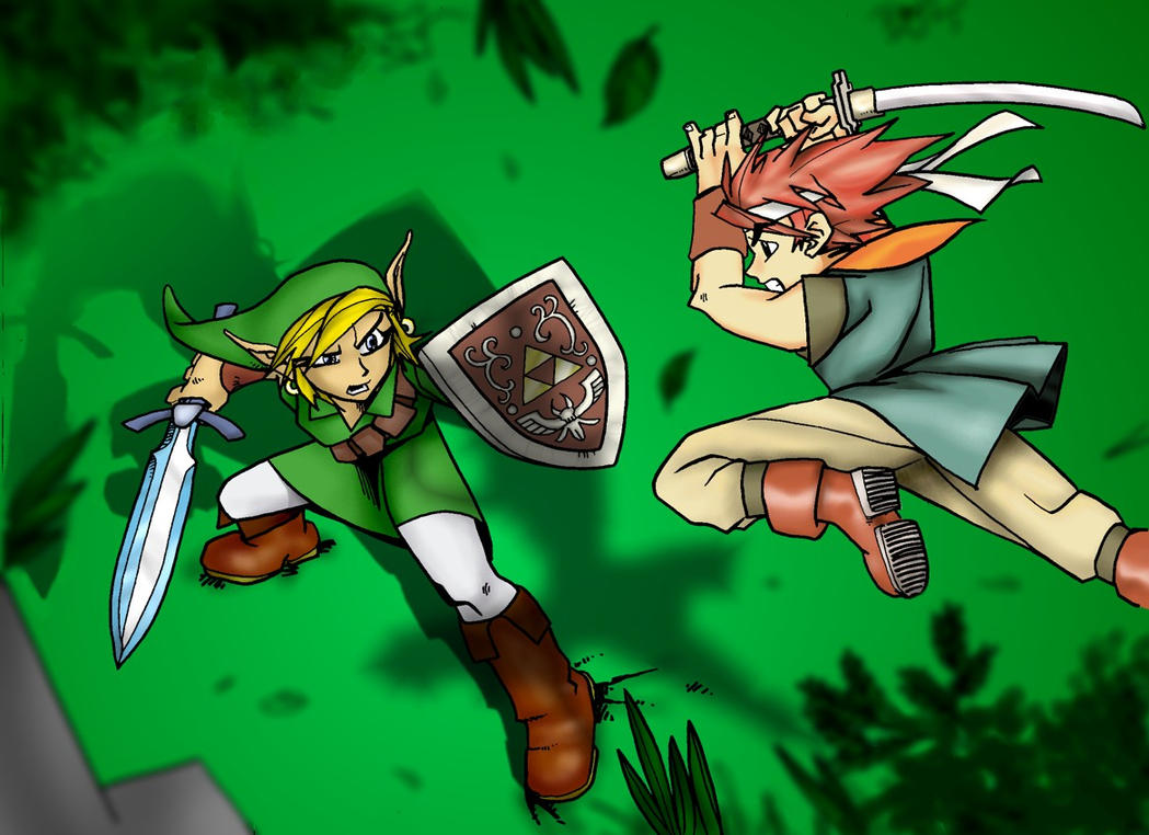 Link vs Chrono by Matarael