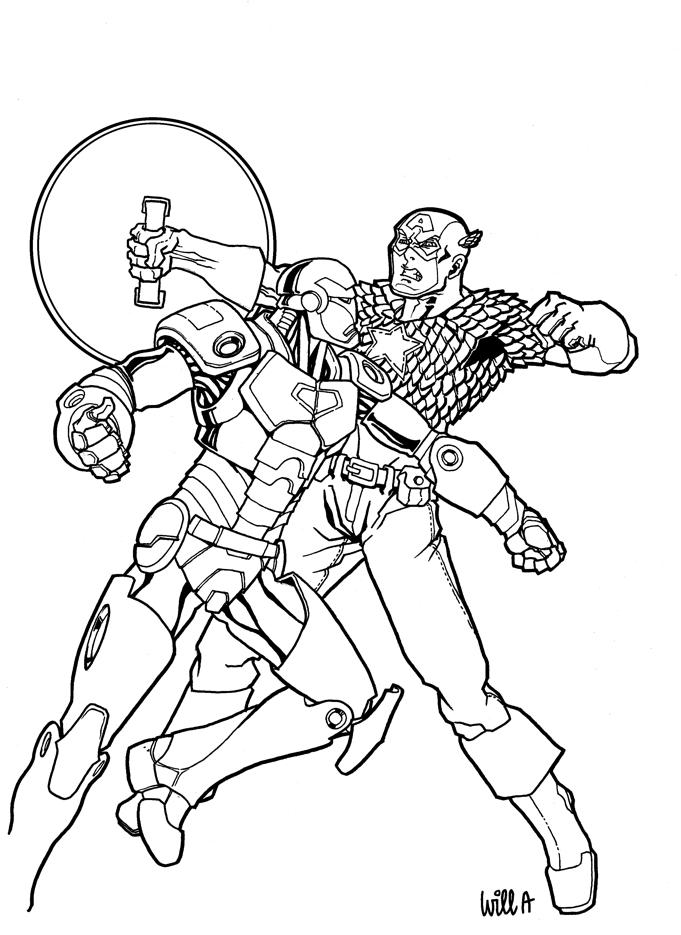 Captain America vs Iron Man by Matarael on DeviantArt