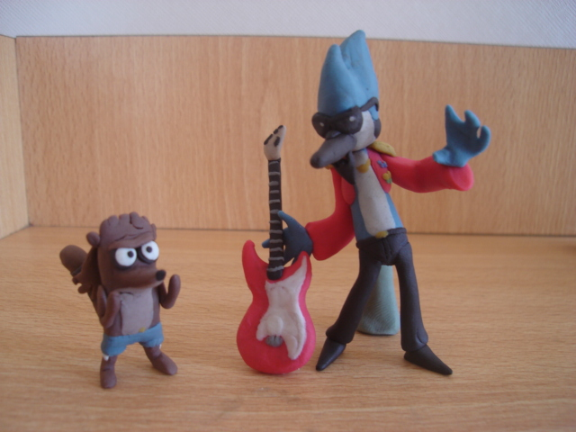 mordecai and rigby 2 en plastilina by fsalkatras