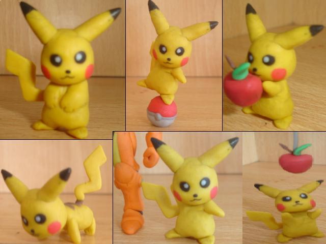 Pikachu en plastilina by fsalkatras