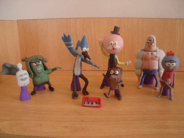 Regular show en plastilina by fsalkatras