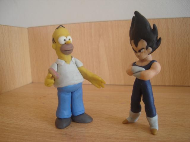 Homero y Vegeta en plastilina by fsalkatras
