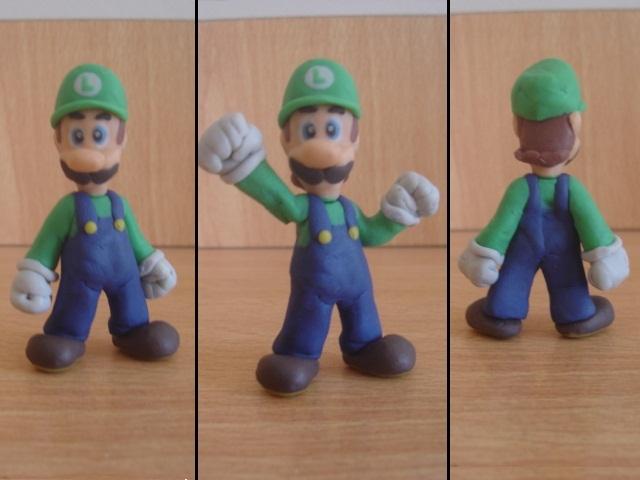 Luigi en plastilina by fsalkatras