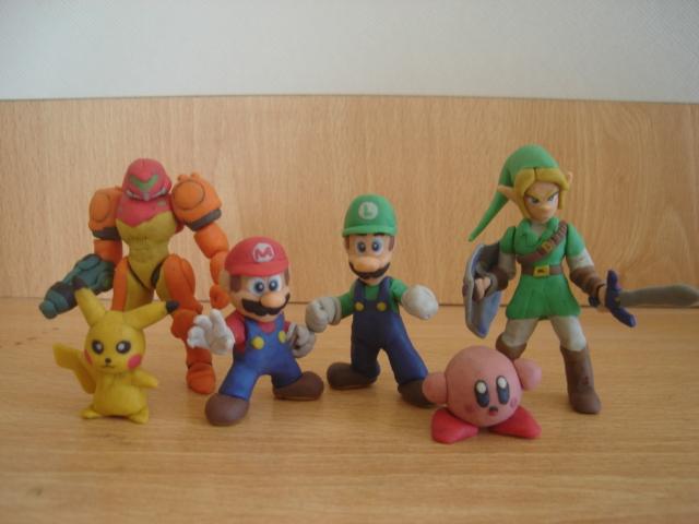 Nintendo chars en plastilina by fsalkatras