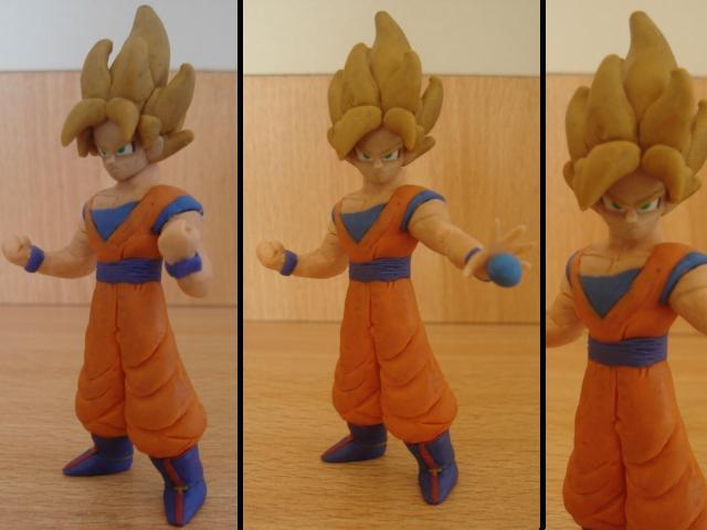 Goku ssj en plastilina v2 by fsalkatras