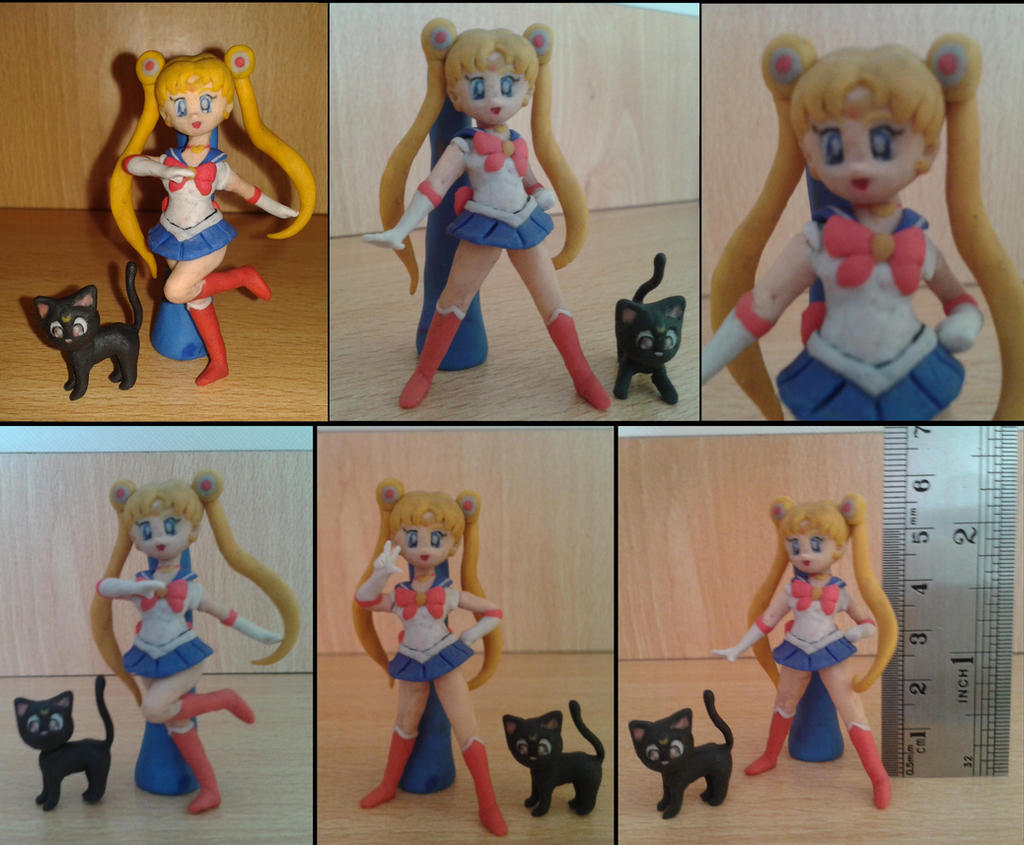 Sailor Moon en plastilina by fsalkatras