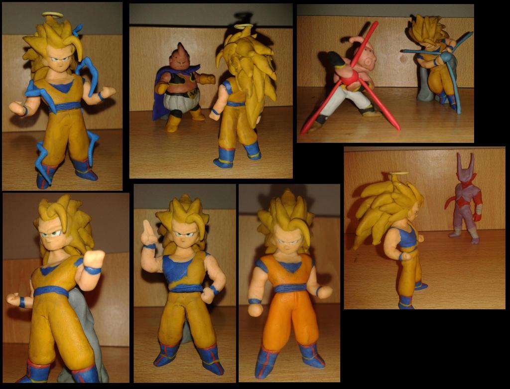 Goku ssj3 en plastilina by fsalkatras