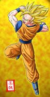 Goku SSJ2 by SnaKou
