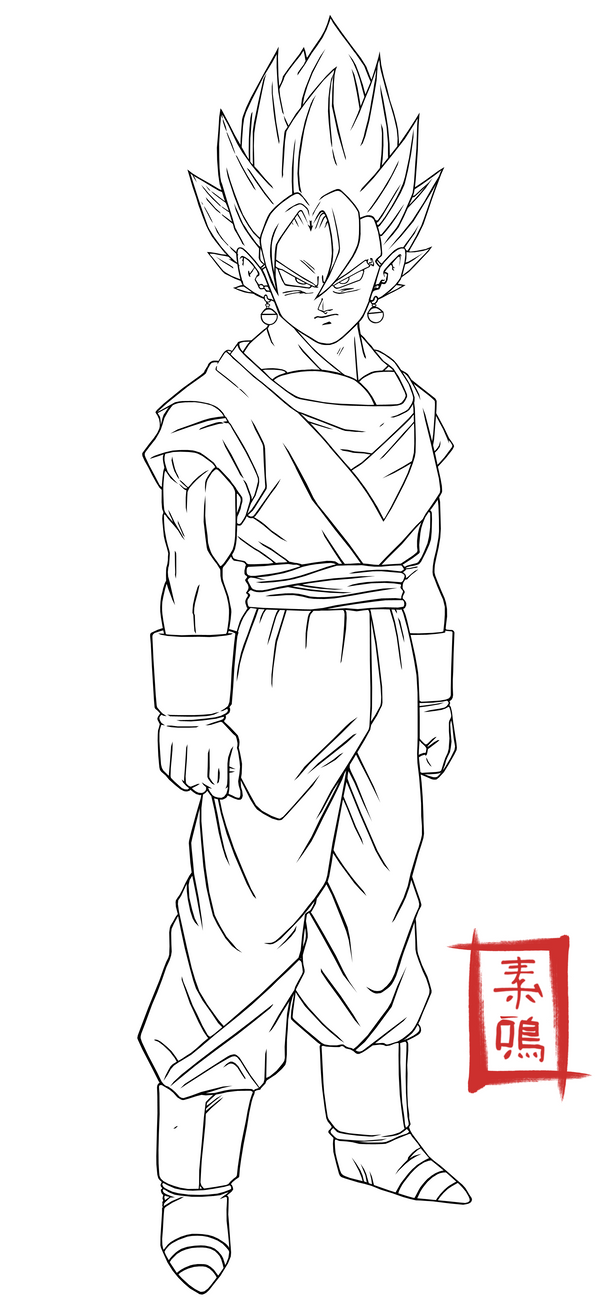 Dragon Ball Z Coloring Pages Vegito | Coloring Pages