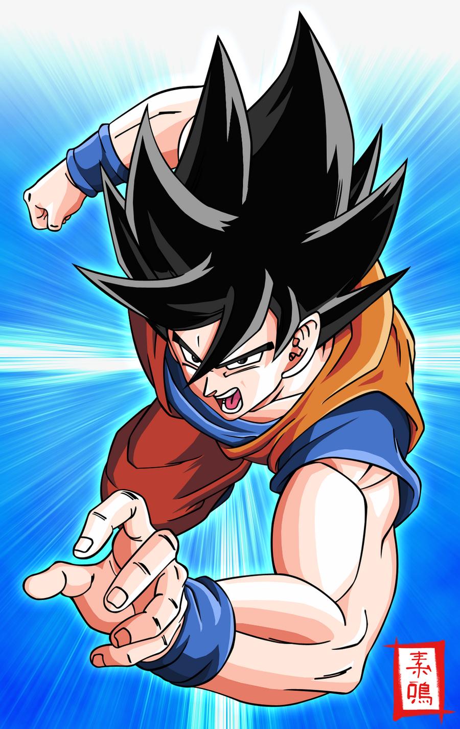Goku Attack by SnaKou on DeviantArt
