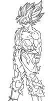 Goku SSJ Kai Lineart