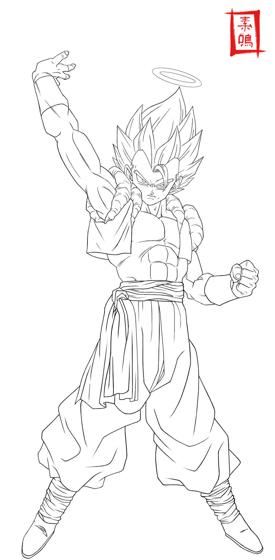 Ultimate Gogeta Lineart by SnaKou on DeviantArt
